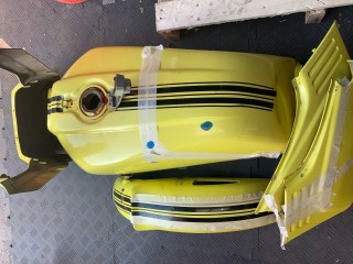 Motorcycle tank before